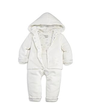 Absorba Unisex Plush Jacket Bodysuit  Pants Set  Baby