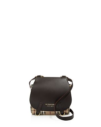 a3885fc93677 Burberry - Haymarket Check Bridle Leather Crossbody
