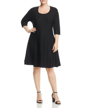 Nic and Zoe Plus Twirl Ribbed Sweater Dress