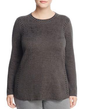 Nic and Zoe Plus Studded Melange Sweater