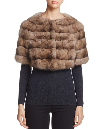 Maximilian Furs - Sable Fur Bolero - 100% Exclusive