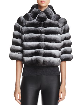 $Maximilian Furs Chinchilla Fur Bolero - 100% Exclusive - Bloomingdale's