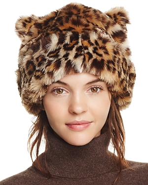 kate spade new york Plush Leopard Hat with Ears