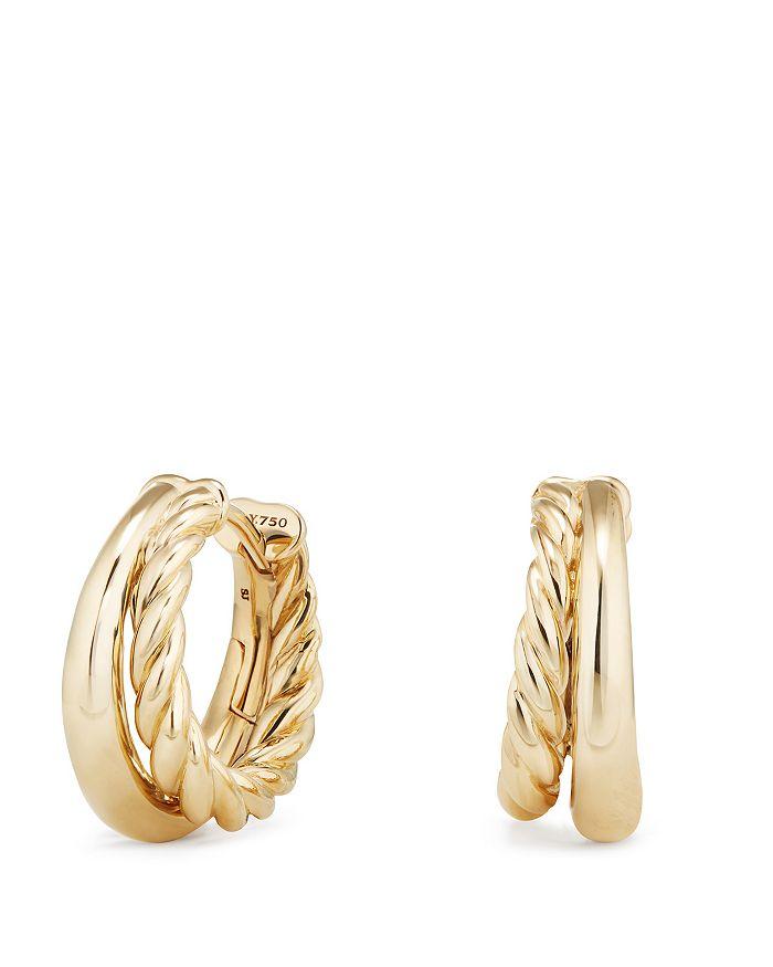 David Yurman - Pure Form Hoop Earrings in 18K Gold