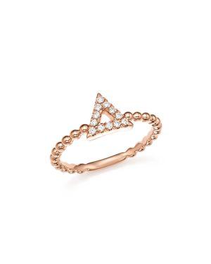 Dana Rebecca Designs 14K Rose Gold Poppy Rae Cutout Triangle Diamond Ring