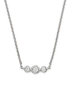"KC Designs - 14K White Gold Triple Diamond Necklace, 16"""