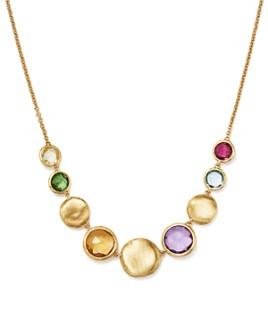 "Marco Bicego - 18K Yellow Gold Jaipur Multi Gemstone Small Bead Collar Necklace, 16.5"""