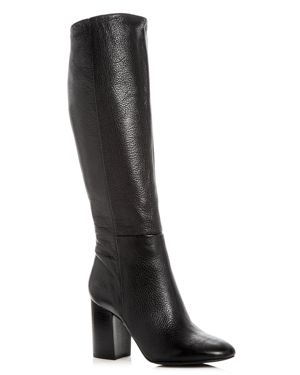 Kenneth Cole Women's Clarissa Leather High Block Heel Boots