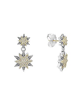 LAGOS - 18K Gold & Sterling Silver North Star Diamond Double Drop Earrings