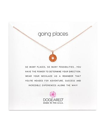 """Dogeared - Going Places Necklace, 16"""""""