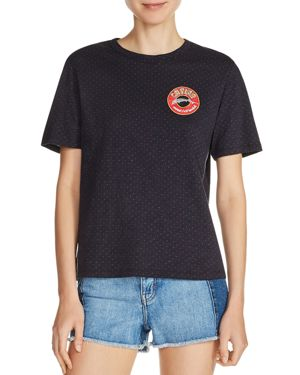 Maje Tarot Pin Dot Embroidered Patch Tee