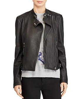 Ralph Lauren - Burnished Leather Moto Jacket