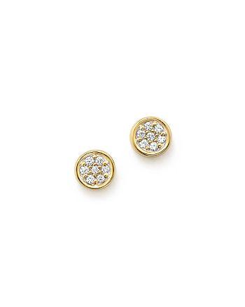 Bloomingdale's - Diamond Bezel Set Small Stud Earrings in 14K Yellow Gold, .10 ct. t.w. - 100% Exclusive