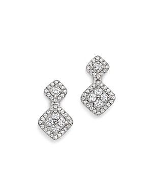 Bloomingdale's Diamond Cluster Drop Earrings in 14K White Gold, .50 ct. t.w. - 100% Exclusive
