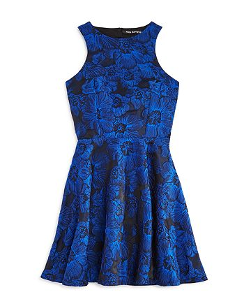 Miss Behave - Girls' Floral Fit-and-Flare Dress - Big Kid