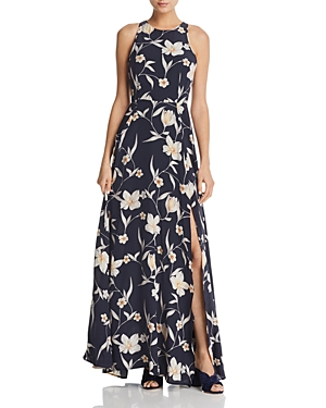 Yumi Kim Dream Floral Print Silk Maxi Dress