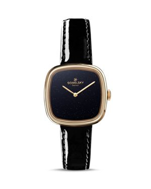 GOMELSKY THE EPPIE SNEED LEATHER STRAP WATCH, 32MM
