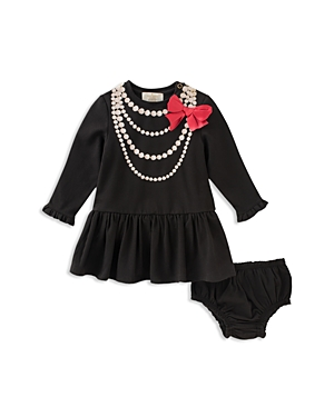 kate spade new york Girls' Pearl Necklace Dress & Bloomers Set - Baby