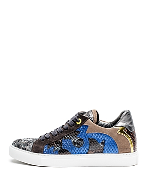 Zadig & Voltaire Zv1747 Nash Glitleo Leather Sneakers