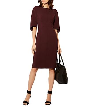 Karen Millen Flared-Sleeve Pencil Dress