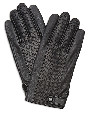 Ted Baker Braided Weave Panel Leather Glove