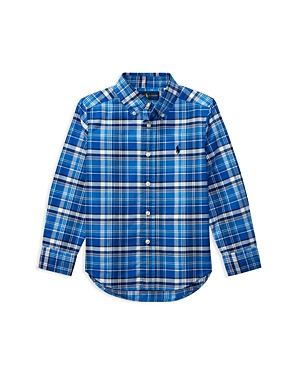 Ralph Lauren Childrenswear Boys Plaid Oxford Shirt  Big Kid
