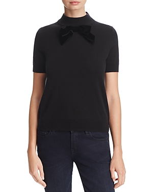 kate spade new york Velvet-Bow Sweater