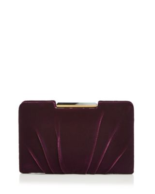 FRAME PLEATED VELVET CLUTCH