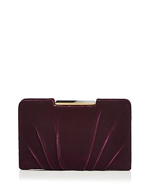 Sondra Roberts Frame Pleated Velvet Clutch
