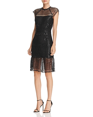 Saylor Illusion Sequin Dress - 100% Exclusive