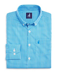 Johnnie-O - Boys' Augusta Jr. Prep-formance Gingham Shirt - Little Kid, Big Kid