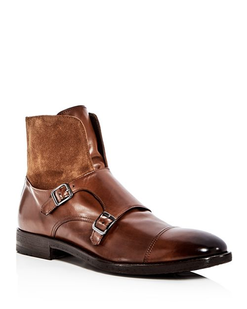 To Boot New York - Men's Broome Leather & Suede Monkstrap Boots