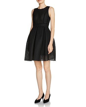 Maje - Rosianne Jacquard Fit-and-Flare Dress