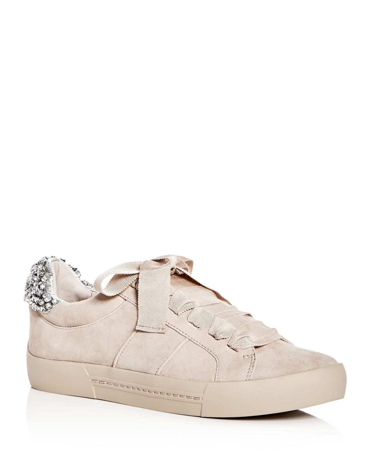 Joie Women's Darena Embellished Suede Lace Up Sneakers