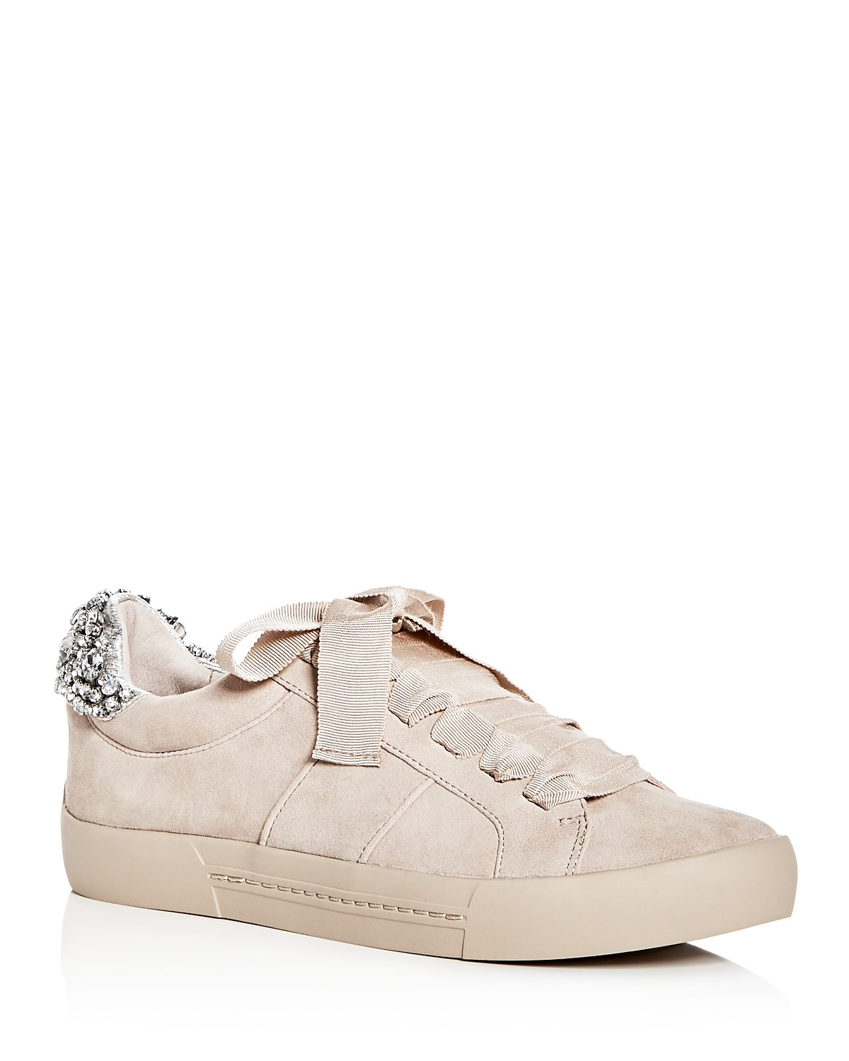 Joie Women's Darena Embellished Suede Lace Up Sneakers JwT9DS2s