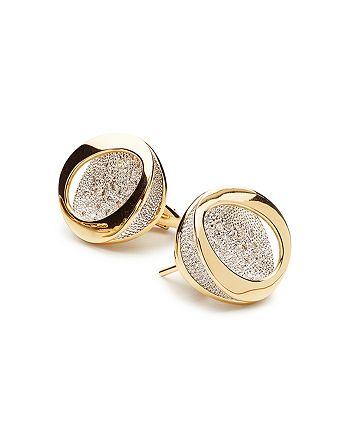 Antonini - 18K Yellow Gold Atolli Diamond Stud Earrings