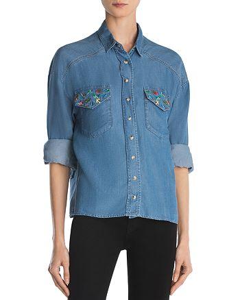 The Kooples - Bird Embroidery Shirt