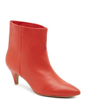 0428a9cb4e Dolce Vita Women's Dee Leather Kitten Heel Booties | Bloomingdale's
