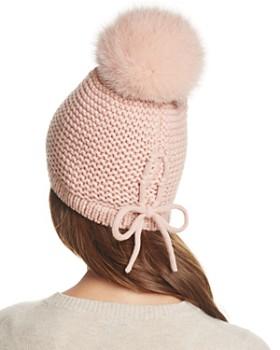 Kyi Kyi - Slouchy Hat with Fox Fur Pom-Pom - 100% Exclusive