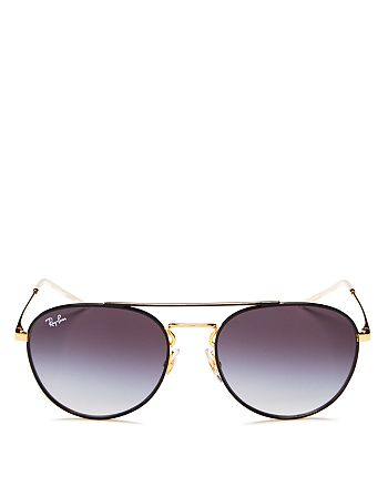 Ray-Ban - Unisex Brow Bar Round Sunglasses, 55mm