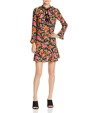 Sandro Doreen Silk Mini Dress