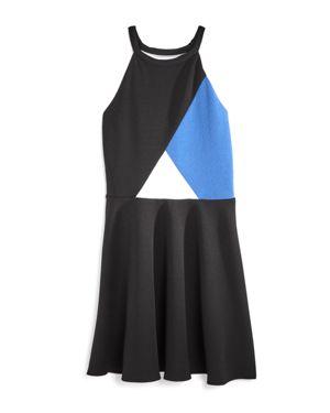 Aqua Girls' Color-Block Flared Dress, Big Kid - 100% Exclusive 2737255