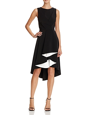 Adelyn Rae Harla Contrast Ruffle Midi Dress