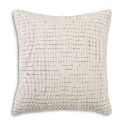 $Mitchell Gold Bob Williams Faux Leather Ribbon Pillow, 22