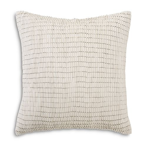 "Mitchell Gold Bob Williams - Faux Leather Ribbon Pillow, 22"" x 22"""