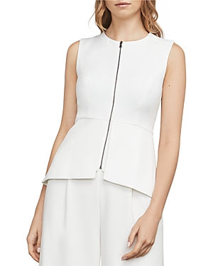 Bcbgmaxazria Abrielle Zip-Front Peplum Top at Bloomingdale's