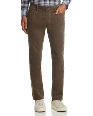 FLAG & ANTHEM Ralston Straight Fit Corduroy Pants in Olive Green