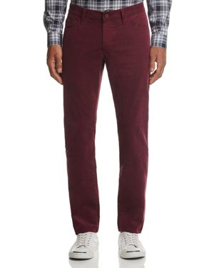 FLAG & ANTHEM Ralston Straight Fit Corduroy Pants in Oxblood Red