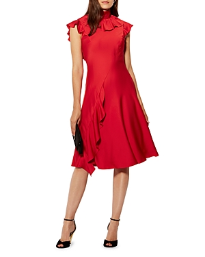 Karen Millen Ruffle Midi Dress