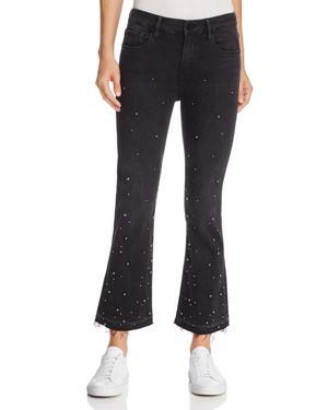 Frame Le Crop Studded Flare Jeans in Mott Street